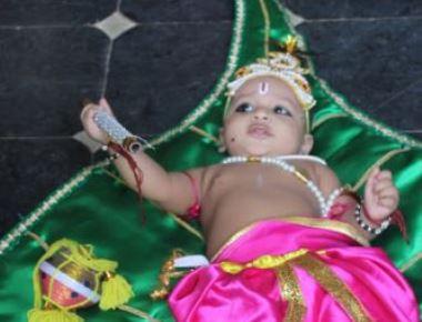 Muddhu Krishna Fancy Dress Competition held at Sri Krishna Mutt, Udupi
