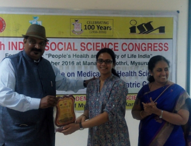 MAA founder presents paper at Indian Social Science Congress