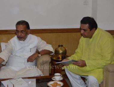 Pramod Madwaraj meets Union Agiculture Minister