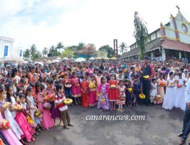 Monthi Fest celebration at Sacred Heart of Jesus Church Madanthyar