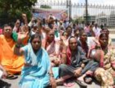 Protest near Vidhana Soudha
