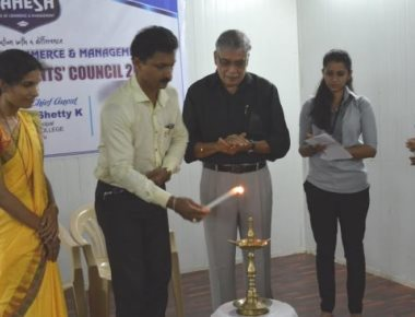 Mahesh P U College holds student council initiation ceremony