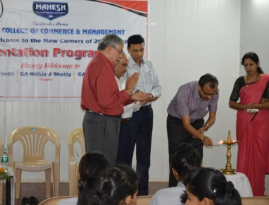 Mahesh College holds orientation programme for  BCom freshers
