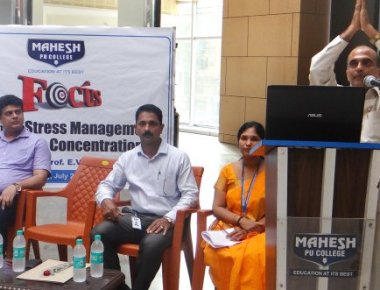 Mahesh P U College holds lecture on stress management