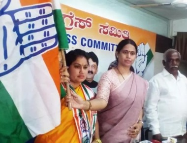 Wife of slain BJP leader joins Cong