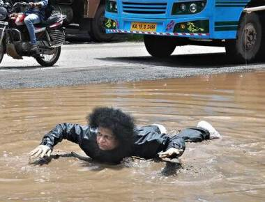 People vent ire over potholes