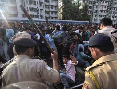 Opposition questions lathi charge on protesters