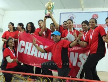 MCC makes a hat-trick win lifting Throwball Champions trophy