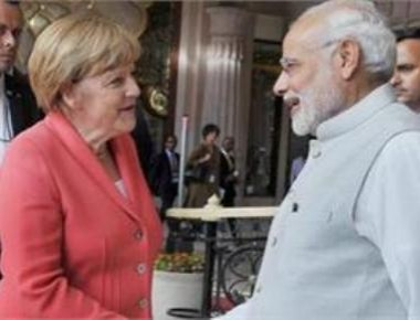 PM hosts special lunch for Merkel, CEOs; woos investors