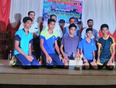 Milagres School emerge champions in taluk level badminton tourney