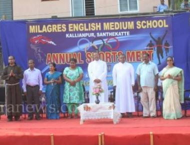 Annual Sports Meet of Milagres English School Kallianpur held with spirit and impression