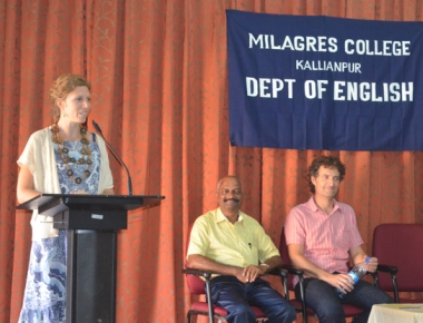 Guest lecture on cultural exchange held at Milagres College, Kallianpur