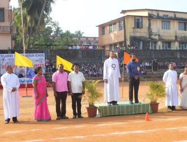 Annual Sports Meet begins at Milagres English Medium School Kallianpur