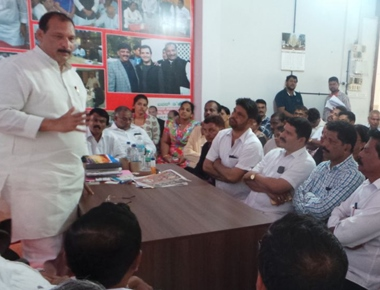 MLC Ivan D'Souza seeks support of Congress workers to make road show of Rahul Gandhi a success