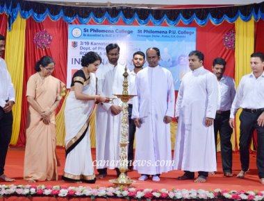 International Yoga Day celebrated at St Philomena College Puttur