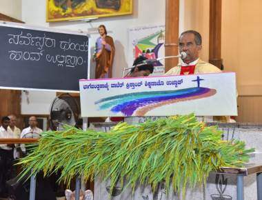 "The celebration of ""Monthi Fest"" at St Francis Xavier Church Udyavara"