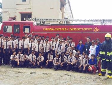 Mock fire drill held at Mahesh High School