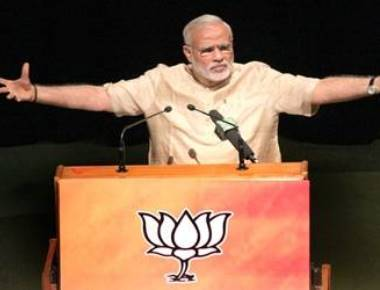 Modi says Congress ignoring Dalits, insulting Ambedkar