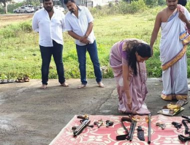 Weapon puja: Muthappa Rai's security agency booked