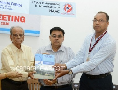 Exit meeting of NAAC Peer Team held at St Philomena college Puttur