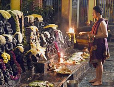 Thousands throng Naga Kshetras to pay obeisance to Naga in district