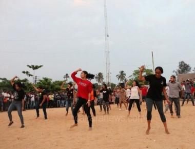 Namma Angadi expo - SOC students perform flashmob
