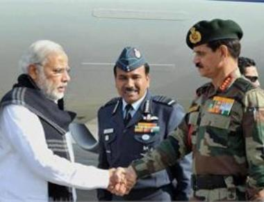 PM visits Pathankot air base, voices satisfaction with counter offensive