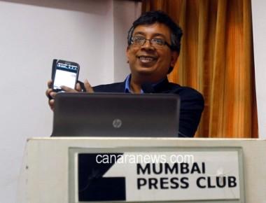 NASA Mars Exploration Rover Mission Scientist, Amitabha Ghosh during press  conference at Mumbai