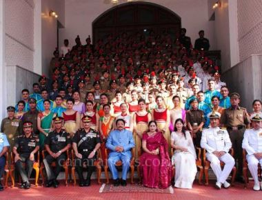 Governor hosted a reception in honour of the 104 cadets of NCC