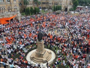 Marathas bring city to a grinding halt
