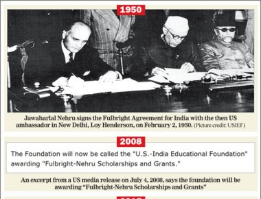 Scholarship sheds Nehru's name- Shift on Fulbright new projects