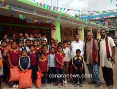 School for earth quake victims by Bengaluru cares for Nepal Inaugurated