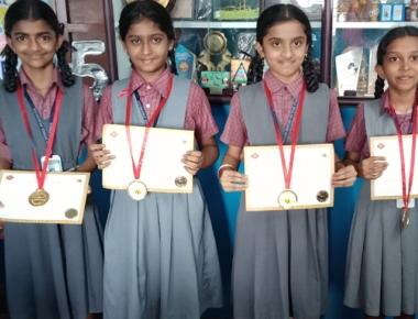 Nirmala English Medium school wins state level 'Win National Spell Bee competition'