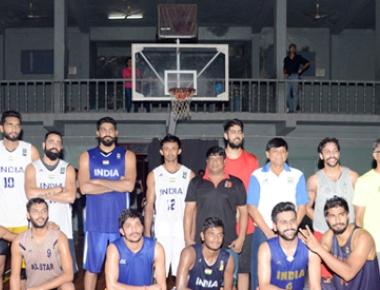 Nitte host training session for National Basketball team