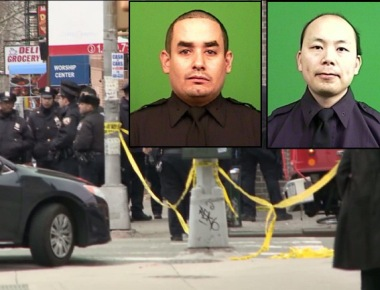 2 NYPD officers 'executed' by gunman in their police car