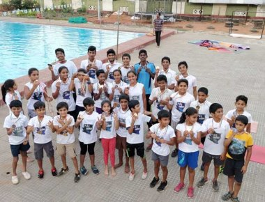 PAC swimmers win 43 medals at AloyMac district level swimming competition