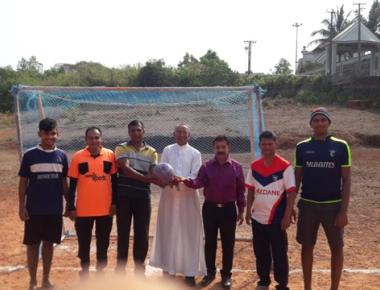 Interparish football tournament held at Paldane church premises