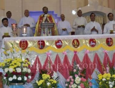 Udupi: Vespers (Besp) observed with devotion on the eve of the annual parish feast at St. John's Pangala