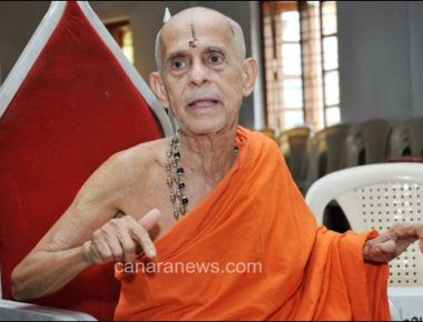 Pejawar Swamiji asks his disciple Uma Bharathi to ensure justice to Karnataka in Cauvery water dispute issue