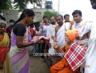 Pejawar seer helps victims of Chennai floods