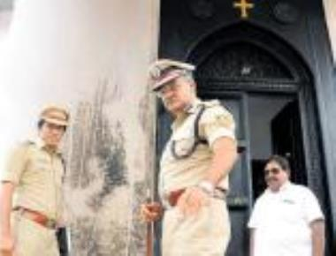 Petrol bomb thrown at church in Tumakuru