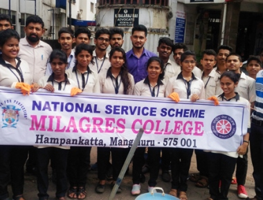 Plastic free environment camp held by Milagres College's NSS unit