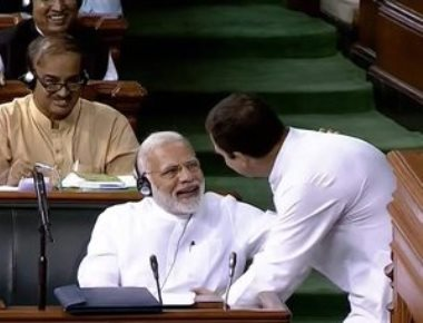 Rahul hugs PM after a vitriolic attack, accuses Modi of being a 'bhagidar' in graft