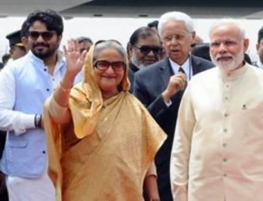 Modi meets Bangladesh PM