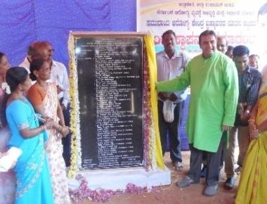 Pramod Madhwaraj lays foundation stone for new diary building