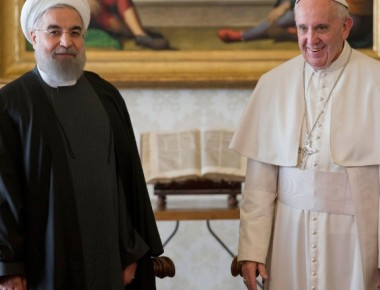 Pope Francis, Iranian President meet face-to-face at the Vatican