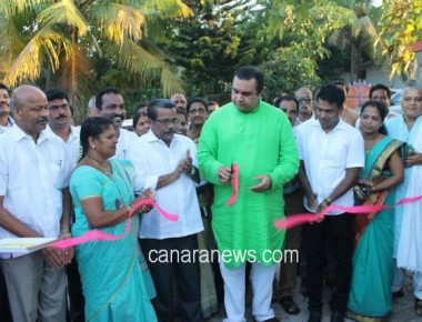 Pramod Madhwaraj inaugurates Children Park at Santhekatte, Kallianpur