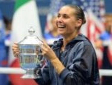 Pennetta wins US Open final, announces retirement