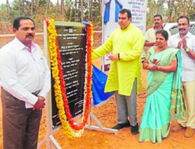 Foundation stone laid for new market yard in Santhekatte