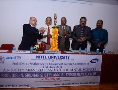 Prof N Sridhar Shetty endowment lecture held at Nitte